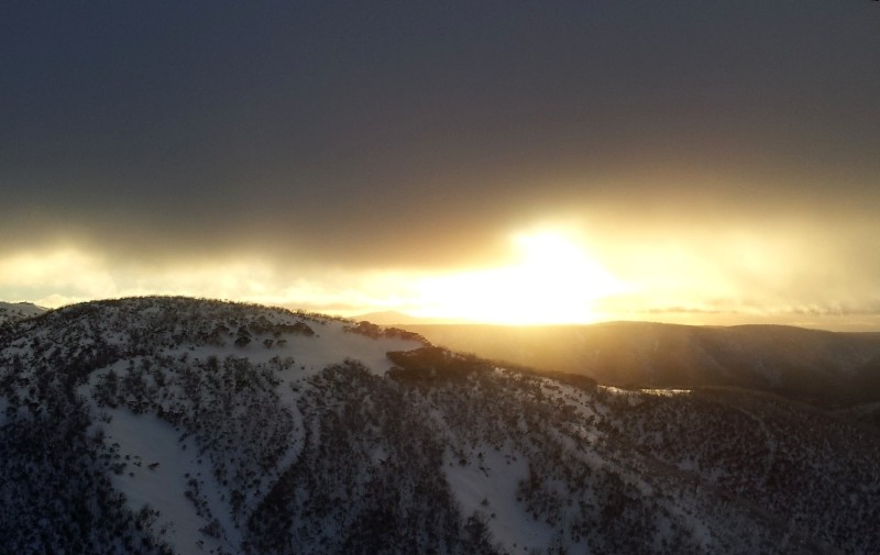 image of sunrise at mount hotham victoria